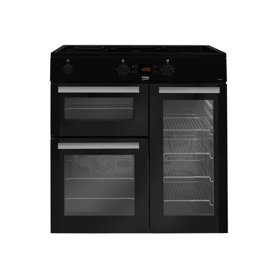 Beko BDVI90K Electric Double Oven Range Cooker with Induction Hob