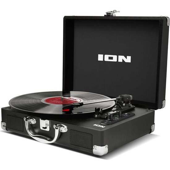 ION Vinyl Motion Air Portable Bluetooth Turntable - Black