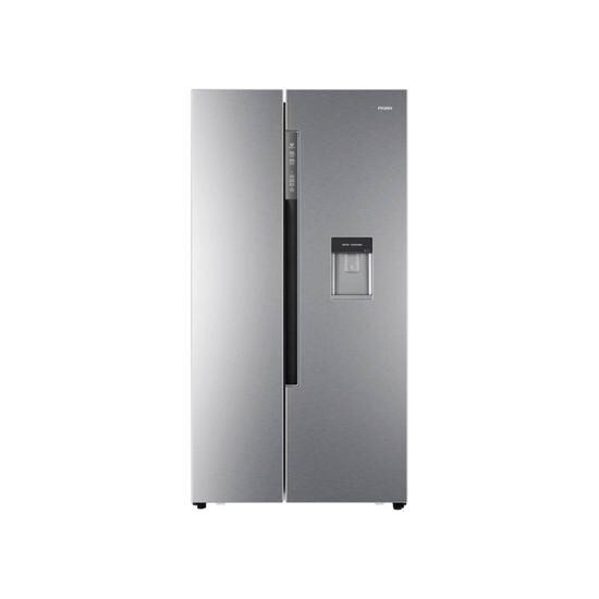Haier HRF-522WM6 American Style Side-by-side Fridge Freezer With Non-plumbed Water Dispenser - Silver