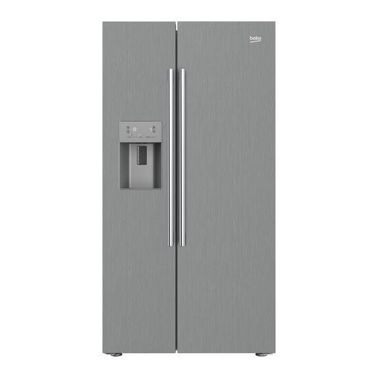 Beko Pro ASPM341PX American-Style Fridge Freezer - Brushed Steel