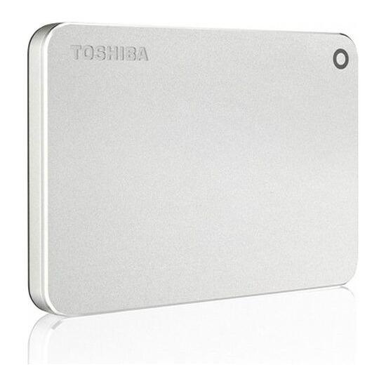 Toshiba Canvio Premium PC Portable Hard Drive - 1 TB, Metallic Silver