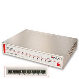 Lindy 8-Port Gigabit Desktop Switch