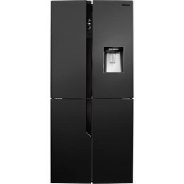 Hisense RQ560N4WB1 Four Door American Fridge Freezer With Non Plumbed Water Dispenser - Black Reviews
