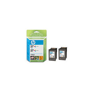 Photo of HP 2-Pack 57 Tri-Colour Cart Ink Cartridge