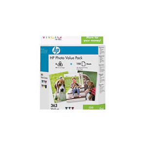 Photo of HP 363 Photo Pack Photo Paper