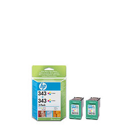 HP 343 Tri-colour Inkjet Print Cartridges Twin Pack Reviews