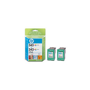 Photo of HP 343 Tri-Colour INKJET Print Cartridges Twin Pack Ink Cartridge
