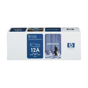 Photo of HP 12A LaserJet Black Toner Cartridge Ink Cartridge