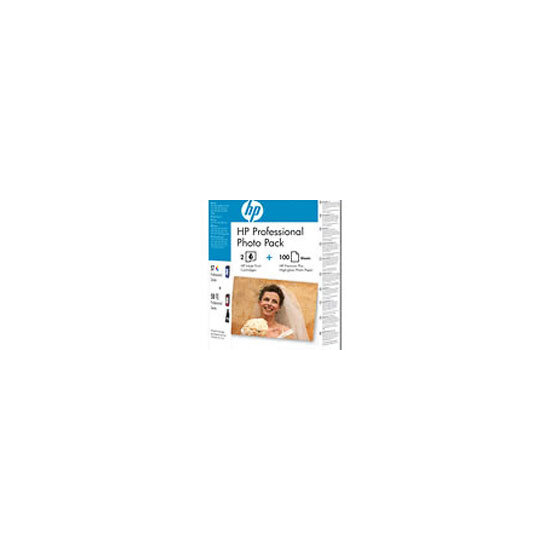 HP Professional Photo Pack 57  and 58 and 100 sheets 280g/m