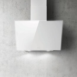 Elica SHIRE-60-WH 60cm Angled Cooker Hood - White Glass Reviews