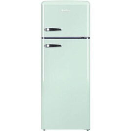 Amica FDR2213DEB 144x55cm 208L Freestanding Top Mount Fridge Freezer - Mint Green Reviews