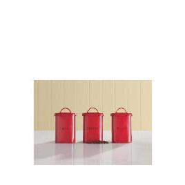 Tesco Red Vintage Tea, Coffee & Sugar Canister Bundle Reviews
