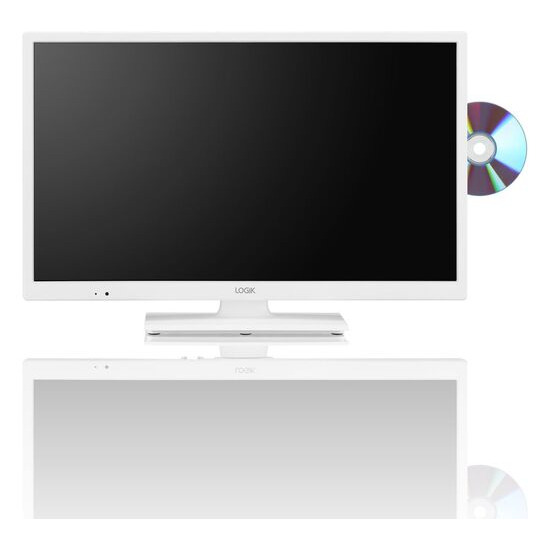 LOGIK L24HEDW18 24 LED TV with Built-in DVD Player - White