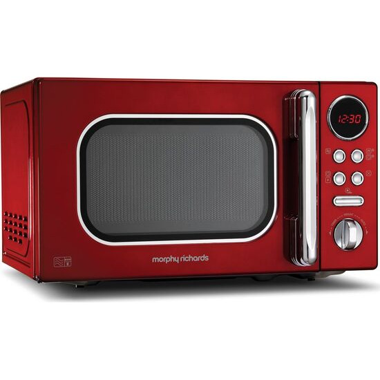 Morphy Richards Accents 511502 Compact Solo Microwave - Red