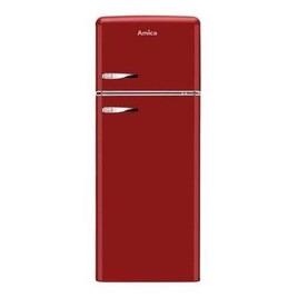 Amica FDR2213R 144x55cm 208L Freestanding Top Mount Fridge Freezer - Red Reviews