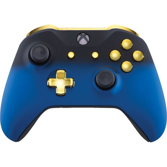 Microsoft Xbox One Wireless Controller - Blue Shadow & Gold