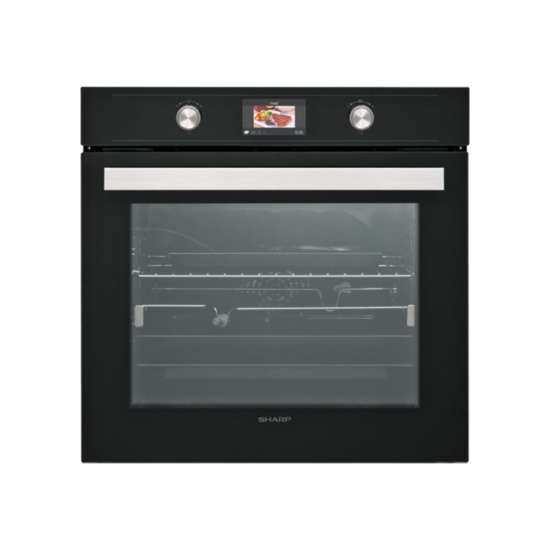 Sharp KS 70S50BSS Massive 78 Litre 10 Function Electric Single Oven With Interactive Control