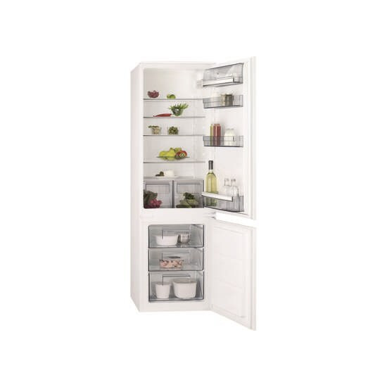 AEG SCB6181XLS 70-30 Integrated Low Frost Fridge Freezer - Sliding Rail