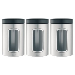 Photo of Brabantia 1.4L  Window Canisters - 3 Pack Household Storage
