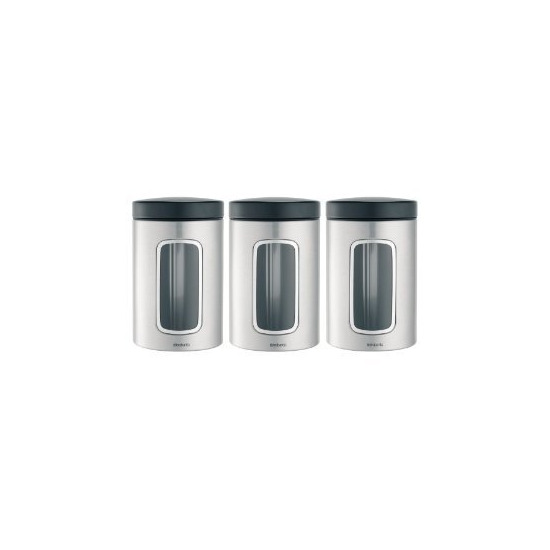 Brabantia 1.4L  Window Canisters - 3 Pack