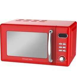 Russell Hobbs Retro RHRETMD806R Compact Solo Microwave - Red Reviews
