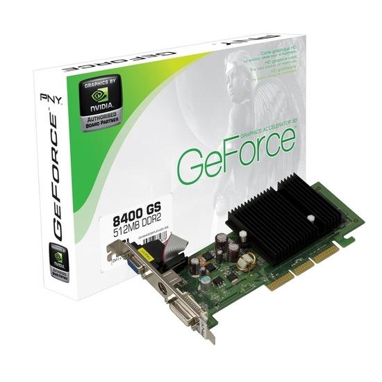 PNY NVIDIA GeForce 8400 GS PCI-E Graphics Card - 512MB