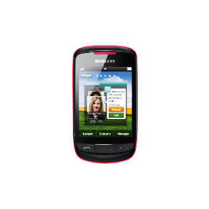 Photo of Tesco Mobile Samsung Touch Frappe Pink Mobile Phone