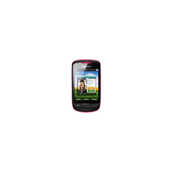 Tesco Mobile Samsung Touch Frappe Pink