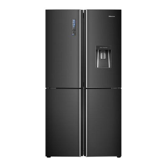 Hisense RQ689N4WF1 Fridge Freezer - Black Steel