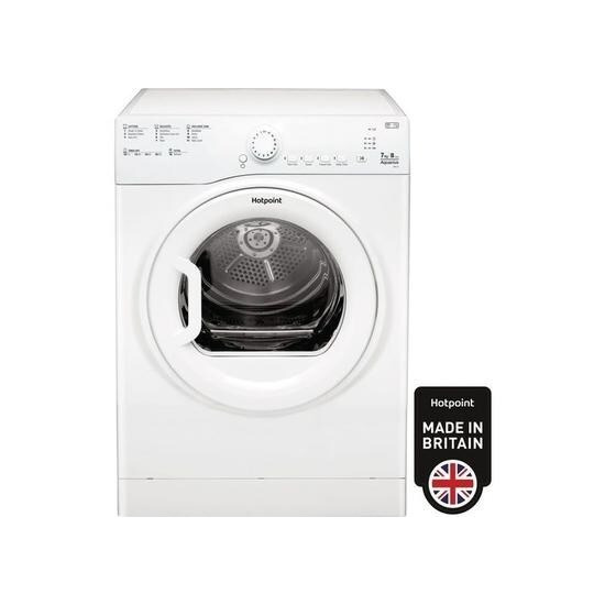 Hotpoint TVFS73BGP9 7kg Freestanding Vented Tumble Dryer