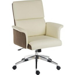 Teknik Elegance Medium Faux-Leather Executive Chair - Cream & Brown Reviews
