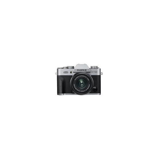 Fujifilm X-T20 Mirrorless Camera with FUJINON XC 15-45 mm f/3.5-5.6 OIS PZ Lens - Silver