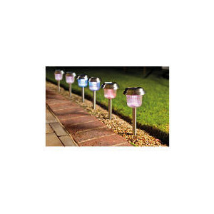 Photo of Tesco Colour Changing Solar Marker 6 Pack Lighting