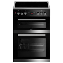 Beko Pro JDC683X 60 cm Electric Ceramic Cooker - Stainless Steel & Black Reviews