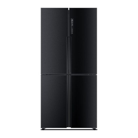 Haier HTF-456DN6 Fridge Freezer - Black