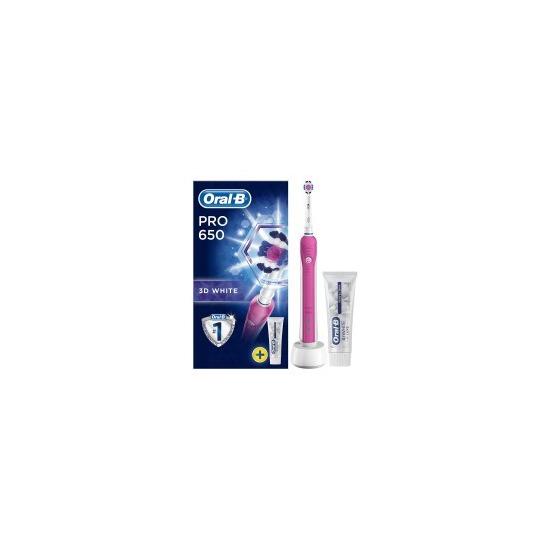 Oral-B Pro 680 Pink 3Dwhite Electric Toothbrush