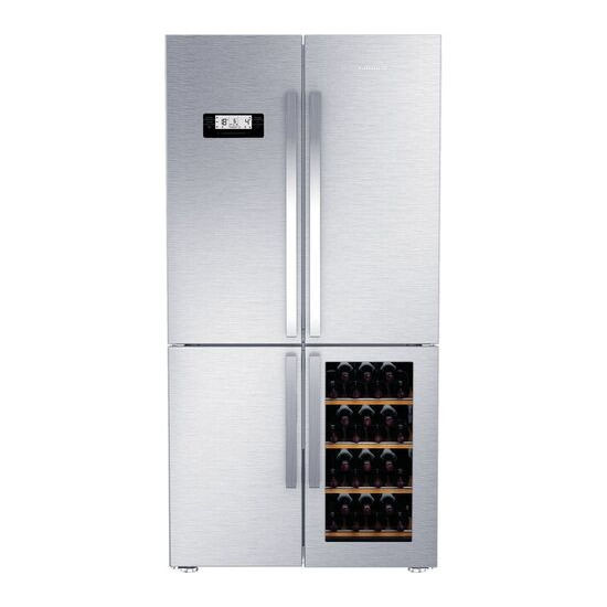GQN21220WX Fridge Freezer - Stainless Steel