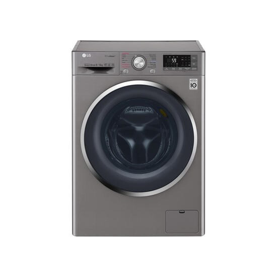LG F4J8FH2S 9kg Wash 6kg Dry Eco Hybrid Freestanding Washer Dryer With True Steam And Smart ThinQShiny Steel