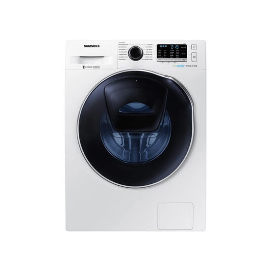Samsung WD80K5B10OW 8kg Wash 6kg Dry AddWash Washer Dryer With EcoBubble - White With Crystal Blue Door