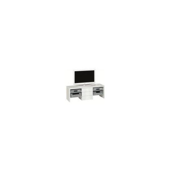 Jahnke Studio Line 4500 Extra Wide TV Stand - Gloss White