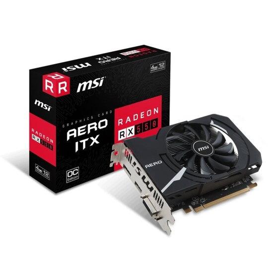 MSI Radeon RX 550 Aero ITX 4G OC 4GB GDDR5 Graphics Card