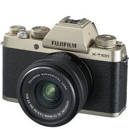 FUJIFILM X-T100 Mirrorless Camera with FUJINON XC 15-45 mm f/3.5-5.6 OIS PZ Lens - Champagne Gold Reviews