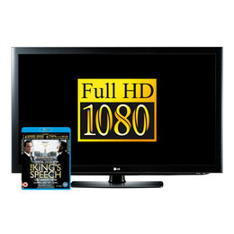 "LG 37LD450 37"" LCD Full HD 1080p TV With The King's Speech Blu-ray For Free"