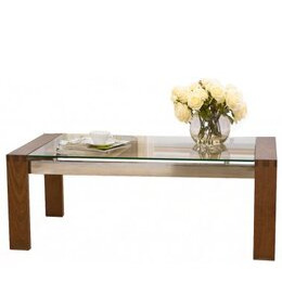 Mark Harris Roma Walnut Coffee Table with Glass Top Reviews