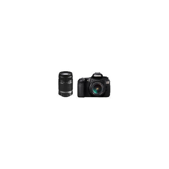 Canon EOS 60D with EF-S 18-85mm and 55-200mm IS lenses