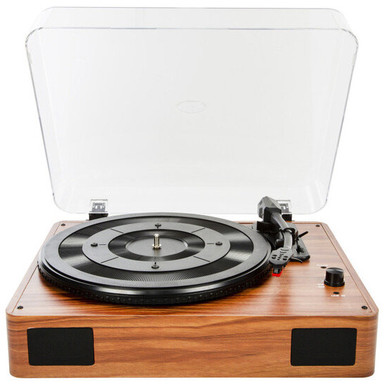 Xenta 3-Speed Stereo Turntable with Built Speakers