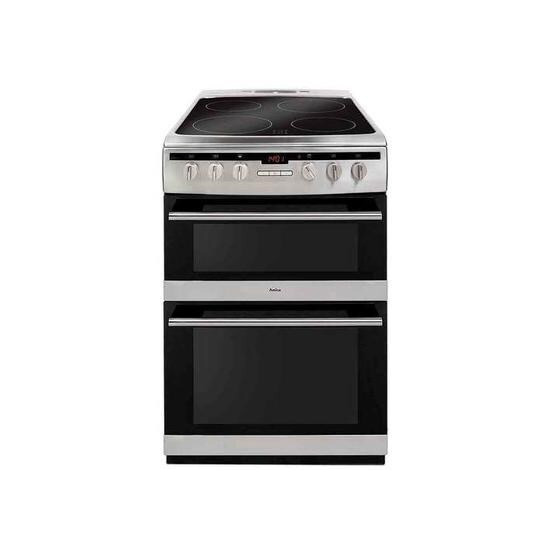 AMICA AFC6550SS 60 cm Electric Ceramic Cooker - Stainless Steel