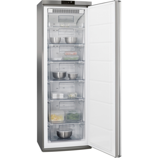 AEG AGE62526NX Frost Free Upright Freezer Stainless Steel A++ Rated