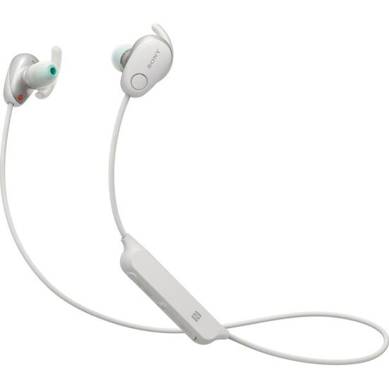 SONY WI-SP600NW Wireless Bluetooth Noise-Cancelling Headphones - White