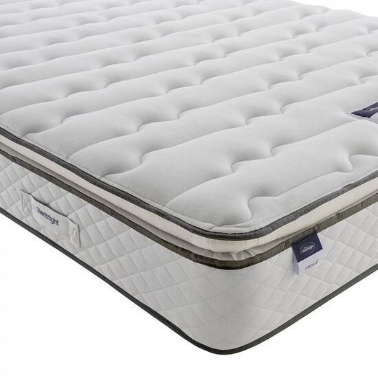 Silentnight Miracoil Pillow Top Mattress, Single